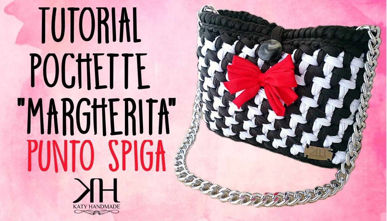 "❀ [Tutorial #8] Pochette ""Margherita"" | Punto spiga | Punto Katiuscia || Uncinetto.Crochet ❀"