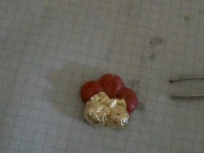 Tutorial - Doratura di un ciondolo in fimo o pasta di mais