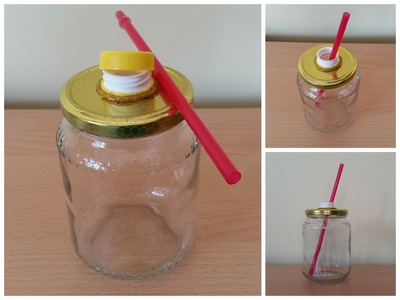 TUTORIAL: MASON JAR To Go fai da te (-rIcIcLo-DiY-)