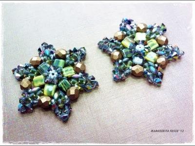Tutorial orecchini con perline e cristalli. Perle e perline. Swarovski Edelweiss con perline