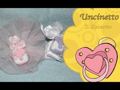 Uncinetto bimbi 2: zainetto bomboniera