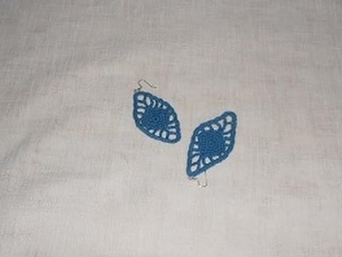 Uncinetto Crochet Orecchino Fedora