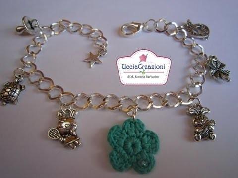 Bracciali con perle e charms all' Uncinetto ! Creazioni di Ucciacreazioni !
