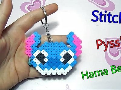 Charm Stitch con Pyssla.Hama Beads+come agganciare le creazioni ad un portachiavi Tutorial