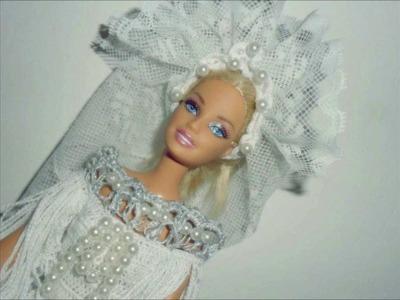 """Lavori artistici all'uncinetto """"Abito da sposa per Barbie"""""""