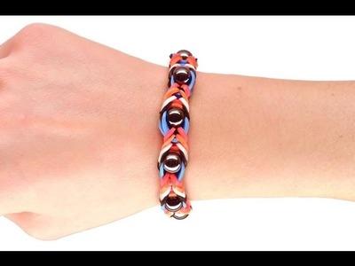 Loom bands V Tutorial Braccialetto con una fila di perle
