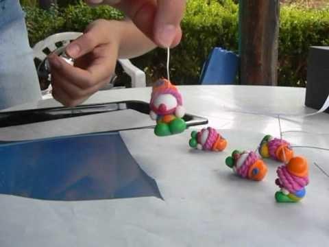 Marge crea pagliacci in fimo.cernit - artigianato  - www.marge.it