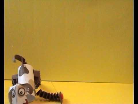 Marionette di carta (cane 2 ). paper puppet