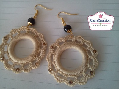 ** ORECCHINI BRACCIALI E CIONDOLI all'uncinetto  ** SCEGLI PER TUTORIAL EARRINGS CROCHET