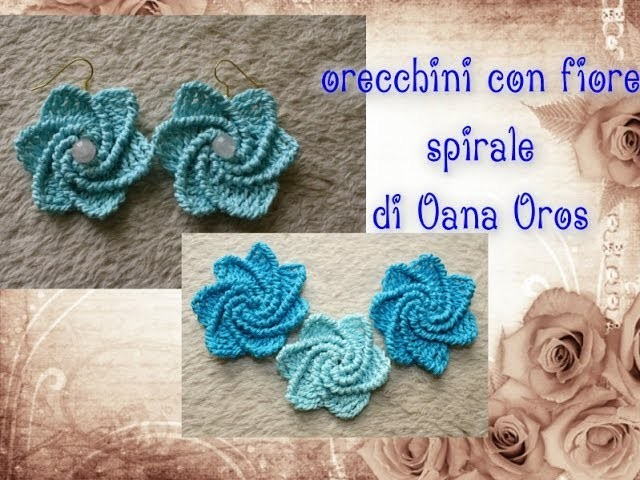 Orecchini spirale all'uncinetto