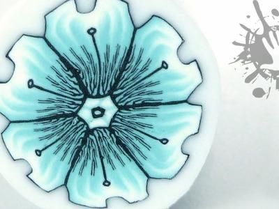 Polymer clay tutorial Murrina Fiore Cristal. Millefiori cane Cristal