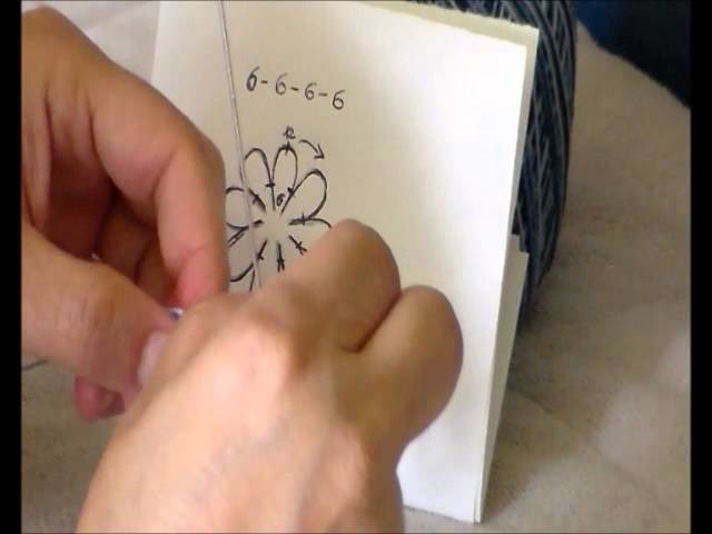 Tatting Chiacchierino ad ago agganciare più petali tutorial fiore e chiusura