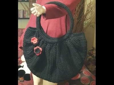 "Tutorial borsa all'uncinetto ""Fat bottom bag"" - crochet fat bottom bag - bolsa en crochet"