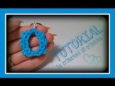 Tutorial Lettera O con Elastici RAINBOW LOOM - DIY Charm Lettere dell'Alfabeto