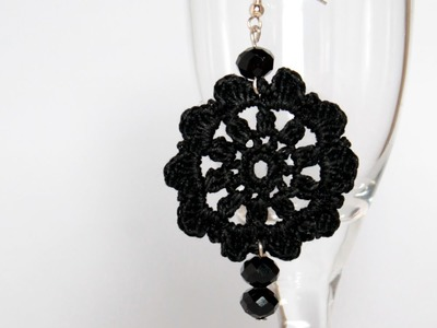 Tutorial orecchini circolari all'uncinetto | Simple crochet earrings tutorial
