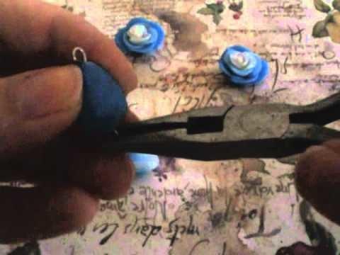Tutorial orecchini - Orecchini Rosa