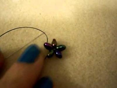 TUTORIAL ORECCHINI STELLE CADENTI FACILI FACILI CON SUPERDUO(Tutorial beads falling stars)
