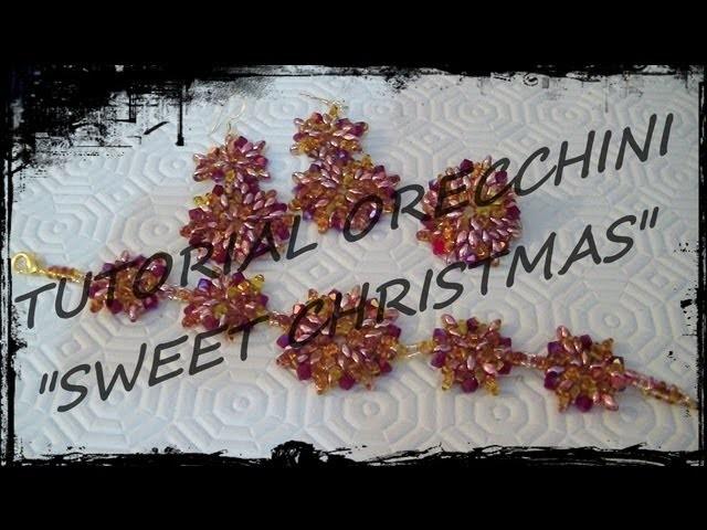 """Tutorial Perline: Parure """"Sweet Christmas"""" realizzata con superduo e bicono swarovski"""