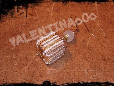 Tutorial Peyote: Cubo in legno, rivestito con perline miyuki delica e rocaille