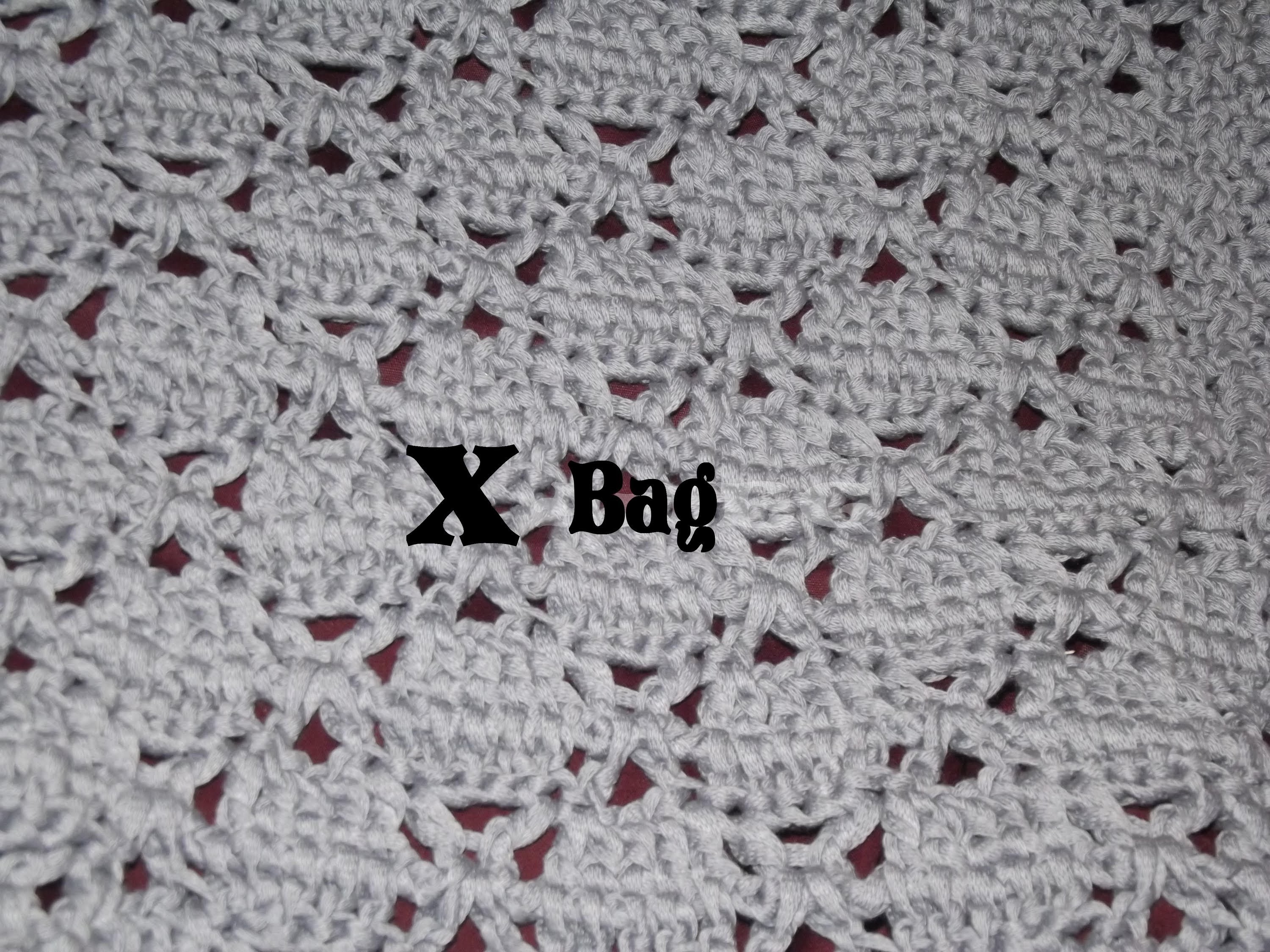 "DIY Borsa all'Uncinetto in Fettuccia ""X Bag"" -Crochet Bag Tutorial- (ENG SUBS)"