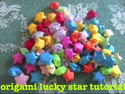 "Origami ""lucky"" star tutorial"