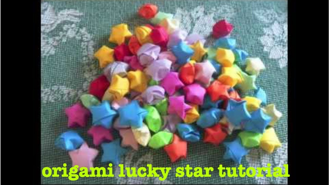 "Origami ""lucky"" star tutorial"
