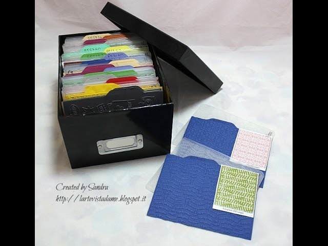 Porta embossing folder.Embossin folder storage-tutorial con envelope punch board - Fai da te. DIY