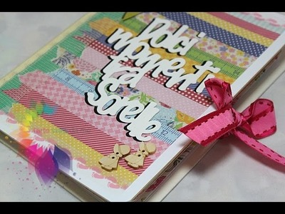 "Scrapbooking Tutorial:Accordion Mini Album ""Dolci momenti tra sorelle""-Album portafoto Fai da te"