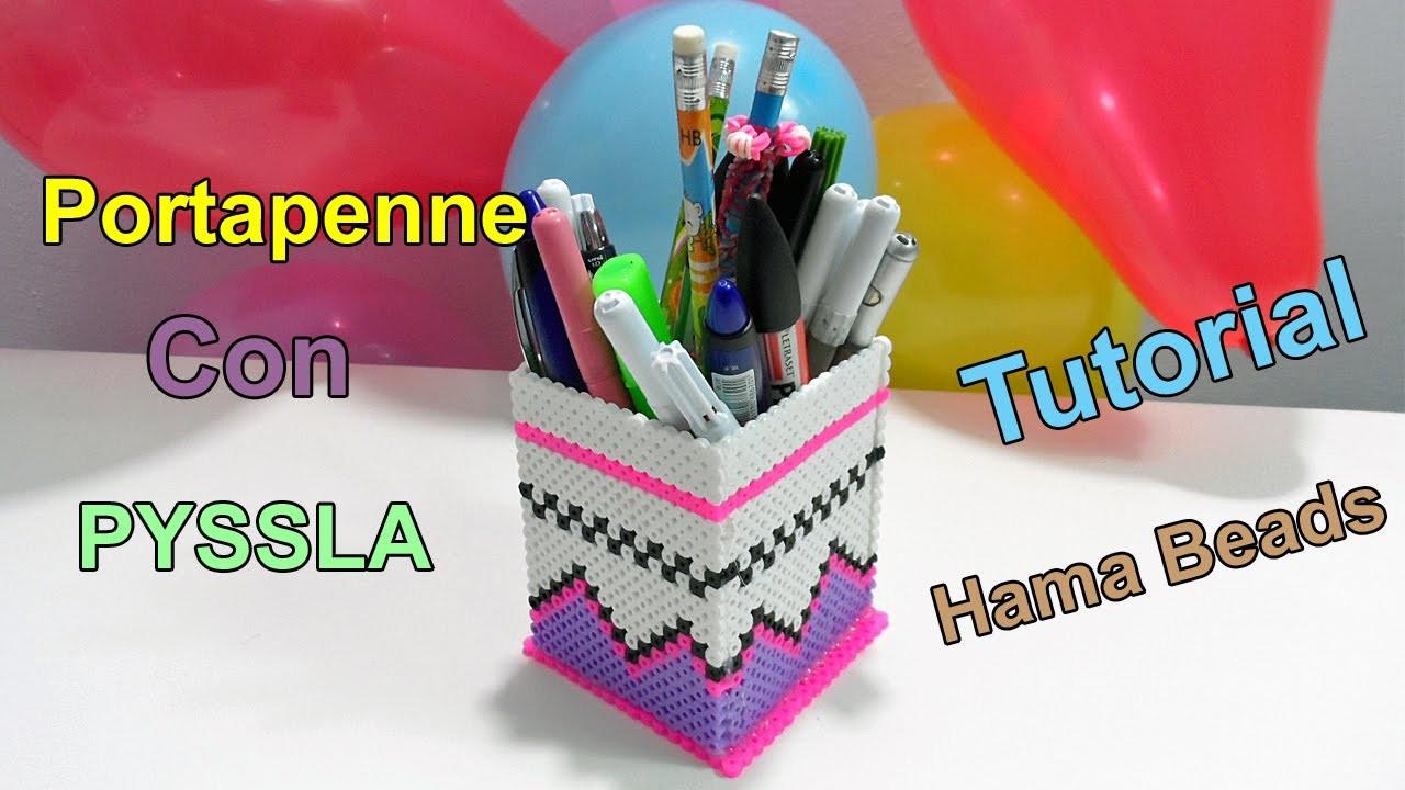 ♥Tutorial Portapenne Con Pyssla (Hama Beads )♥