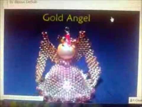 Creazioni bijoux. Gold Angel con perline, gocce e cristalli al concorso di Natale della Preciosa