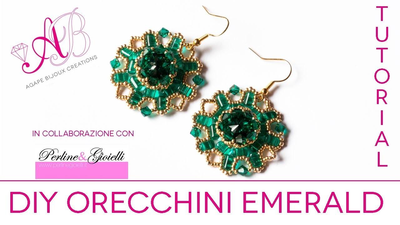 DIY Tutorial   Orecchini Emerald in collaborazione con Perline & Gioielli