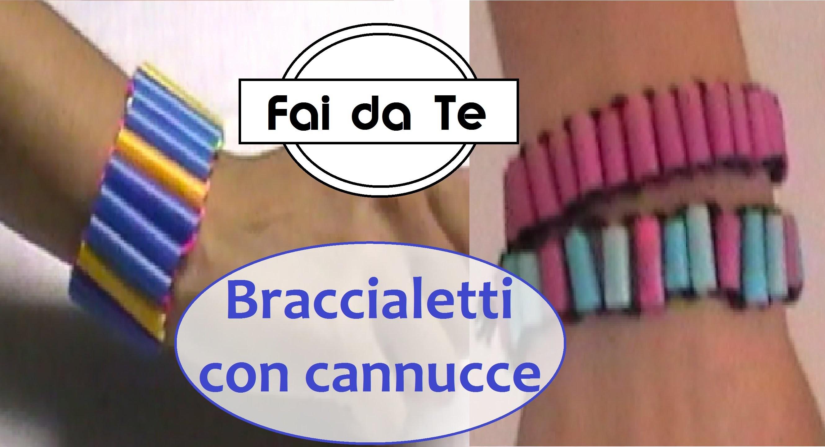 Il Bracciale Trend dell'Estate - Come fare un braccialetto con le Cannucce!
