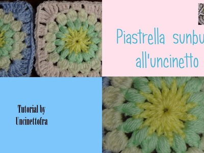 Piastrella sunburst all'uncinetto tutorial