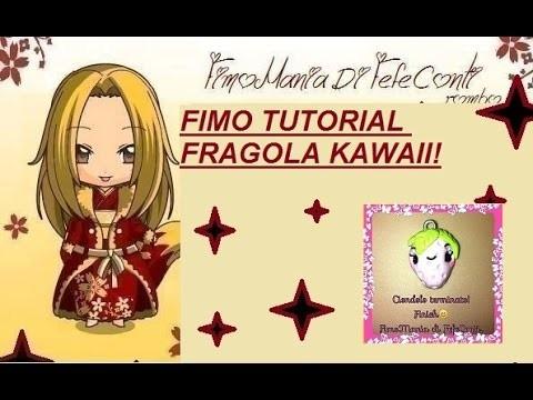 POLYMER CLAY FIMO TUTORIAL STROBERRY FRAGOLA KAWAII!