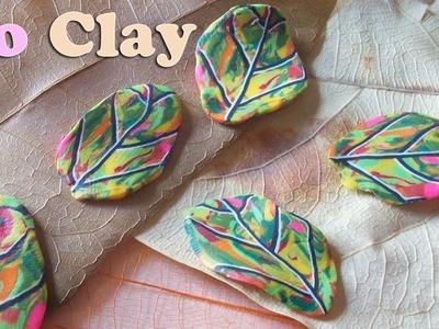 Polymer clay Millefiori cane: Foglia autunnale, hoja de otoño