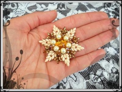 Tutorial modulo HOLLY + Incastonatura perle superduo cipollotti Stella per Orecchini Ciondolo