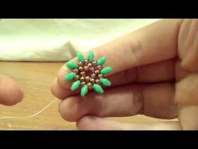 TUTORIAL ORECCHINI GIRASOLE SUPERDUO(Tutorial earrings sunflower)