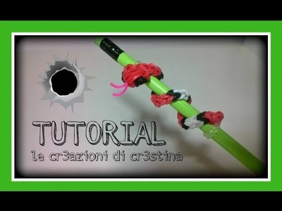 Tutorial Serpente con Elastici RAINBOW LOOM Topper per Matite - DIY Halloween Pencil Hugger Snake
