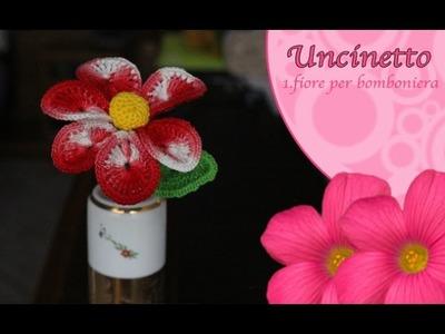 Uncinetto fiore 1: fiore per bomboniera