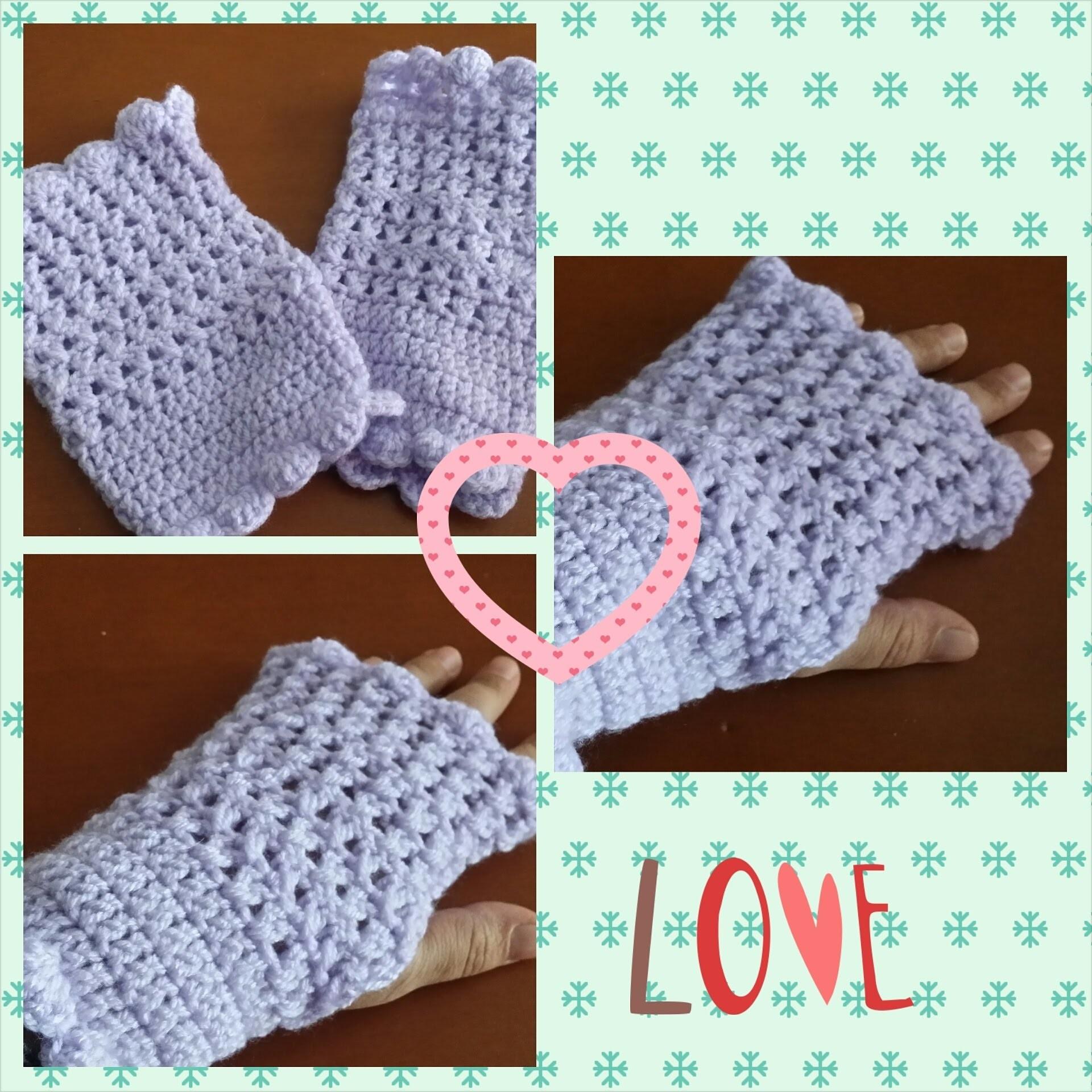 Uncinetto. mezzi guanti senza cuciture
