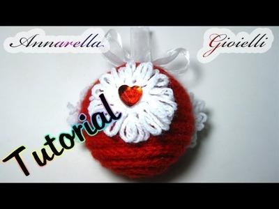 Tutorial palla di Natale al tricotin | How to make Christmas ball