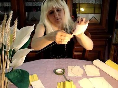 Calla in carta crespa www.nonsolofiori.com