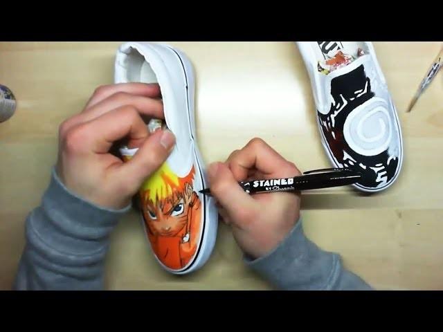 How I Draw Naruto Custom Painted Shoes  | Simone Manenti