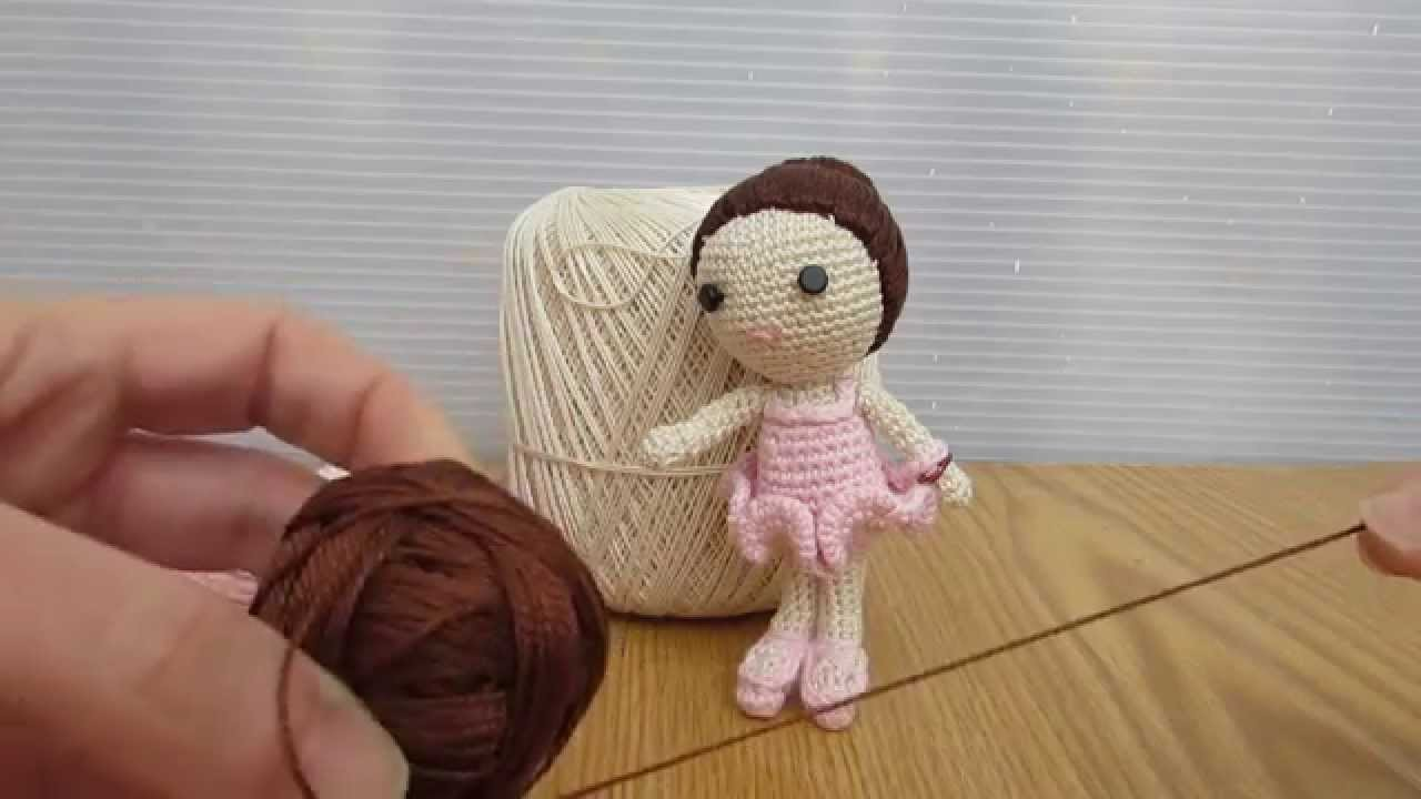 Martina ballerina realizzata a uncinetto con tecnica amigurumi tutorial. HD video.