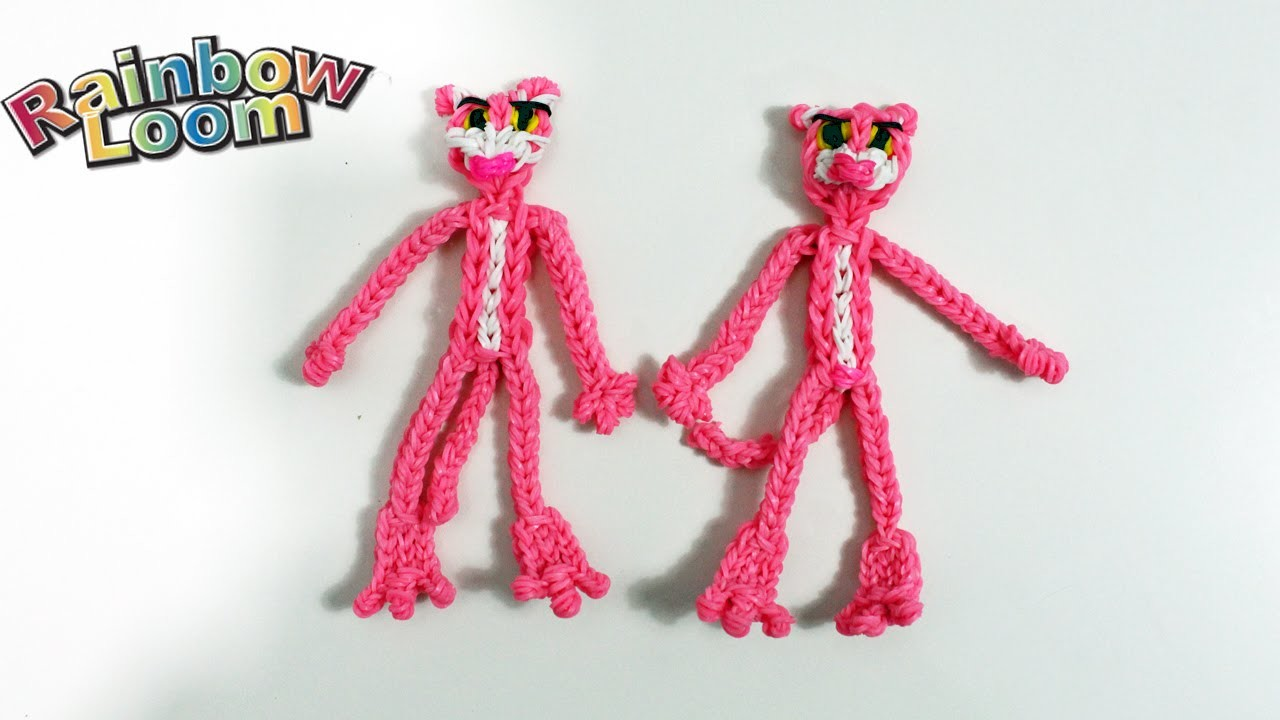 ♥ Pantera Rosa con elastici Rainbow Loom Pink Panther Tutorial ♥