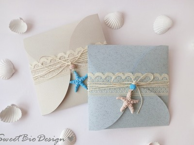 Tuto: Partecipazioni di Nozze tema Marino - Wedding invitations Marine Style
