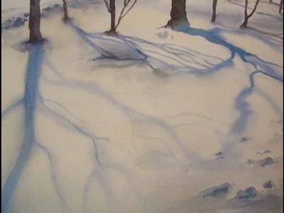 Acquerello Tutorial INVERNO 02 - Ombre sulla Neve