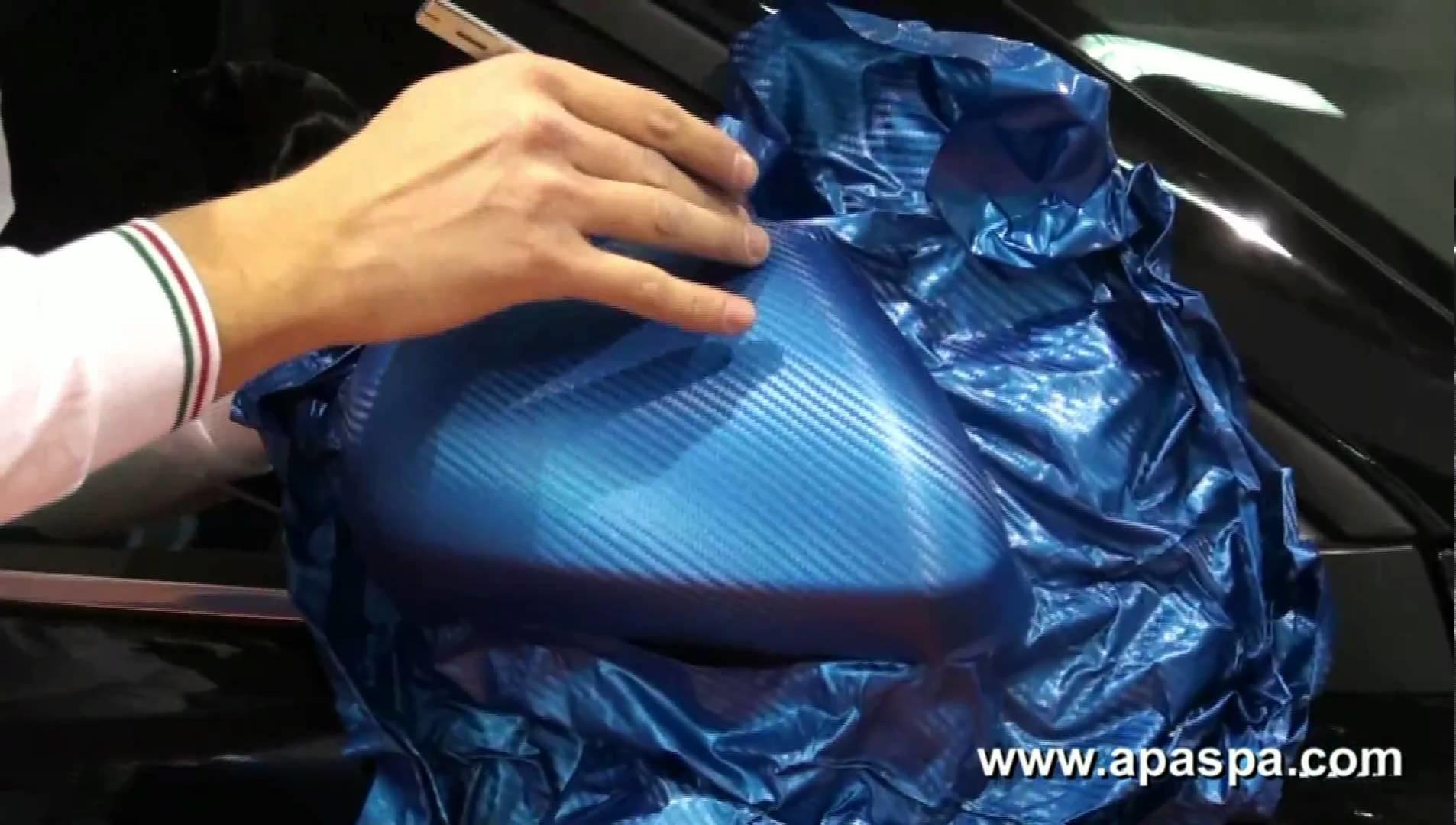 Blue carbon fiber vinyl. Pellicola carbonio blu - APA