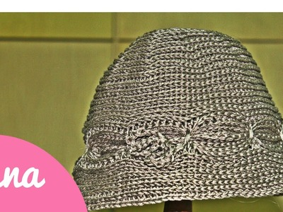 Cappello cloche all 'uncinetto