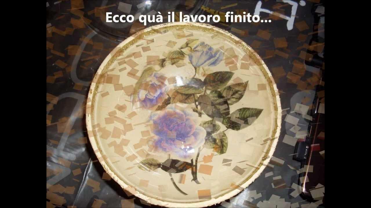 Decoupage su for Decoupage su vaso di vetro